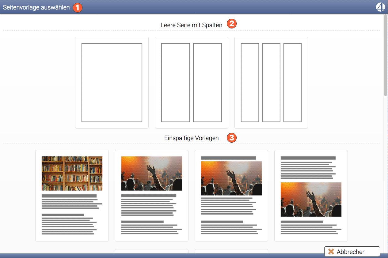 Kostenlose Homepage erstellen - mit page4